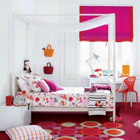 Design-Ideas-For-Young-Girl-Rooms-Red-and-Pink-room