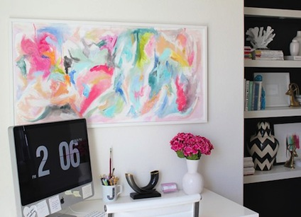 modern-home-office-with-colorful-artwork