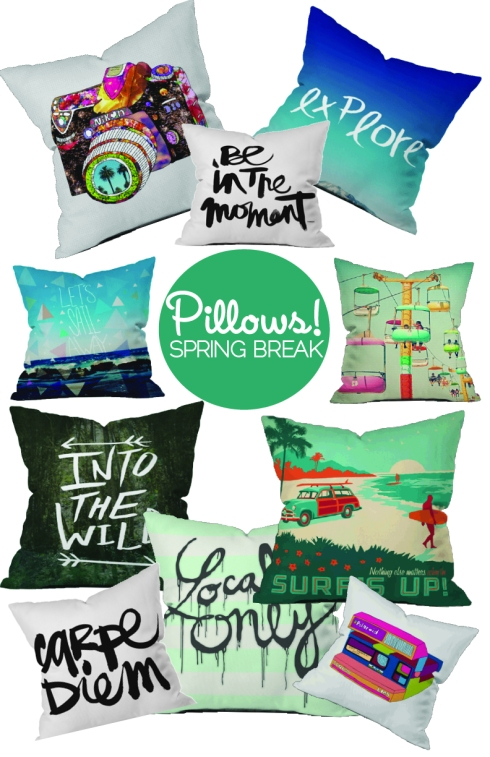 Spring Break Pillows